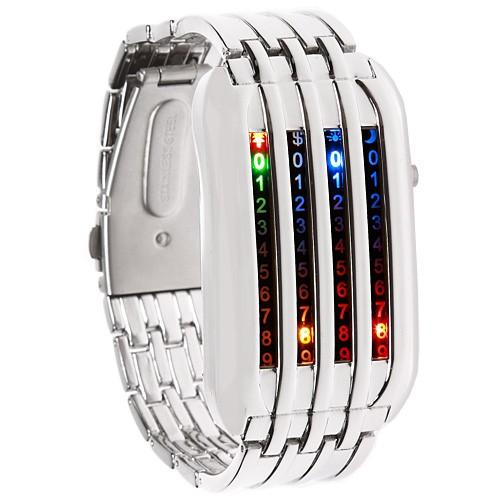 Стильные наручные часы бинарные LED